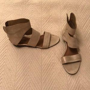Matisse Gold Shimmery Sandals